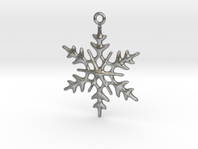 Little Romantic Snowflake Pendant in Raw Silver