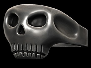 Jack Sparrow Johnny Depp Pirate Skull Ring in Polished Silver