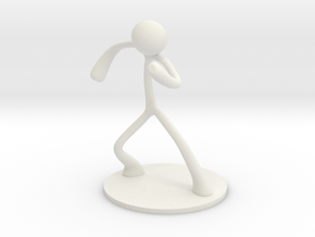 MTI Stickman-poses04 in White Strong & Flexible