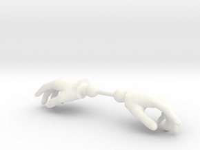 Warrior Hands Relaxed in White Strong & Flexible Polished