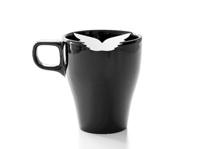 Mug & glass accessories wings 1 in White Strong & Flexible