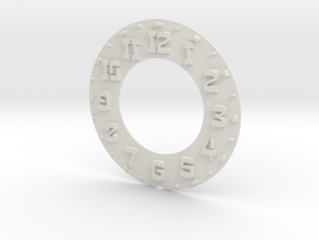 Hudson Clock Numbers - Raised in White Strong & Flexible
