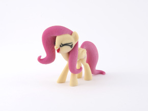 Fluttershy Yay in Full Color Sandstone
