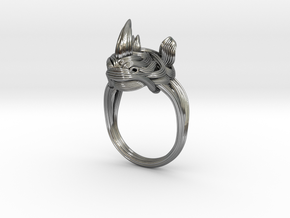 Rhinoceros Ring  in Premium Silver