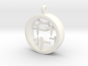 Shikigami Standing Paper Bird Pendant in White Strong & Flexible Polished