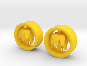 1 Inch Blossom Tunnel in Yellow Strong & Flexible Polished