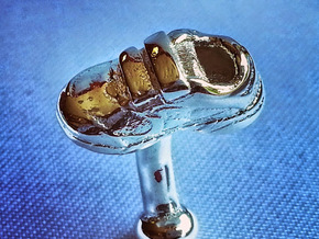 Shoe cufflinks in Polished Silver