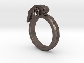 The Gringade - Grenade Ring (Size 10) in Stainless Steel
