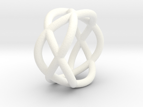 Napkin Ring Pretzel in White Strong & Flexible Polished