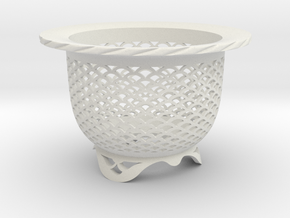 """Neo Pot - Model 4 - Size 3.5 (3.2"""" ID) in White Strong & Flexible"""