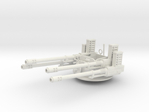 28mm Anti Aircraft turret - simplified in White Strong & Flexible