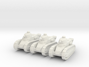Renault FT Tank 1/160 x3 in White Strong & Flexible