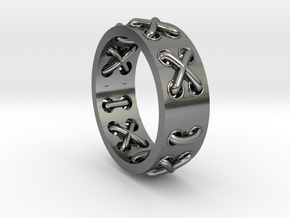 Lace-up Ring - Sz. 9 in Premium Silver