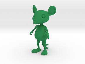 Tiny Heart Mouse in Green Strong & Flexible Polished