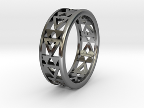 Simple Fractal Ring in Polished Silver