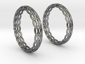 Wired Beauty 4 Hoop Earrings 30mm in Premium Silver