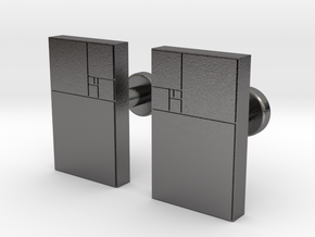 Fibonacci cuff links (pair) in Polished Nickel Steel
