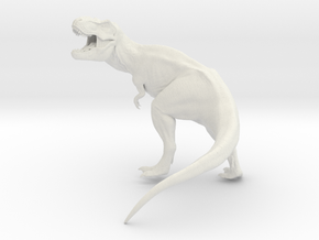 Dinosaur T Rex Roaring 10 cm long  in White Strong & Flexible