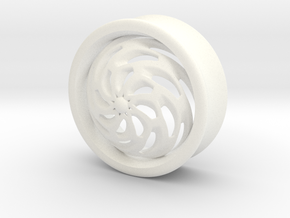 VORTEX4-28mm in White Strong & Flexible Polished