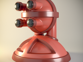 'Robust' robot bust design, model M7-002 in Full Color Sandstone