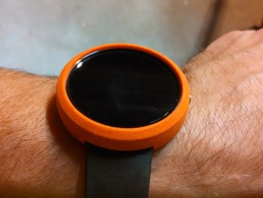 Moto 360 Bumper Case - Tall, Gen 1 in Orange Strong & Flexible Polished