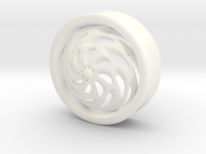 VORTEX4-31mm in White Strong & Flexible Polished