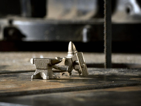 Anvil Cufflinks in Stainless Steel