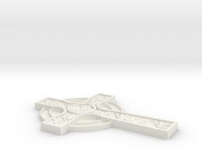 3D CROSS CNC in White Strong & Flexible