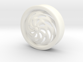 VORTEX4-36mm in White Strong & Flexible Polished