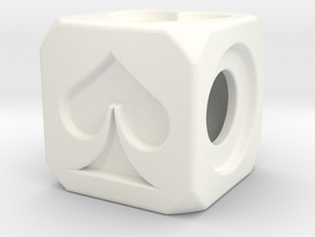 Dice in White Strong & Flexible Polished