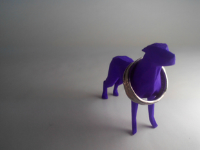 Ring Holder Dog in Purple Strong & Flexible Polished