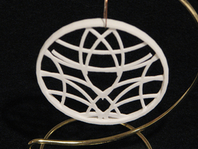 Ornament 01d in White Strong & Flexible