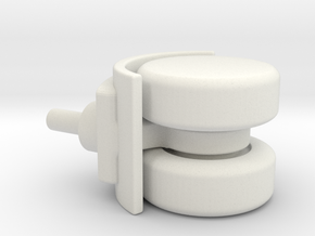 Double wheel for furniture in White Strong & Flexible