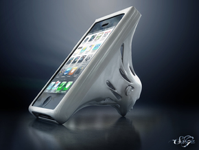 Omniscient Siri - iPhone Open Case and Stand in White Strong & Flexible Polished