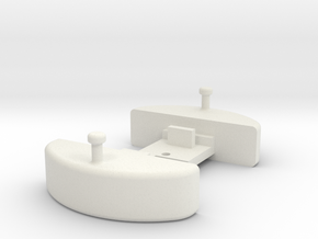 O9 Buffer coupler to fit Kato 103 chassis  in White Strong & Flexible