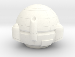 Chariot Dropship Hull - 3mm in White Strong & Flexible Polished