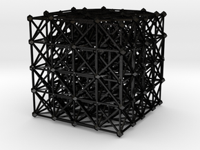 Icosatetrachoric Honeycomb {3,4,3,3} in Matte Black Steel
