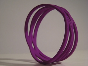Bangle Bracelet in Purple Strong & Flexible Polished