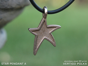 Star Pendant A in Stainless Steel