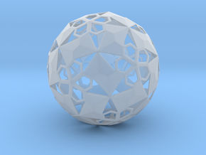 Pent Flower Sphere in Frosted Ultra Detail
