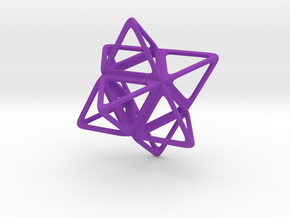 Merkaba Flatbase R1 - 4cm in Purple Strong & Flexible Polished