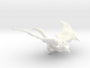 Dragon Birdy in White Strong & Flexible Polished