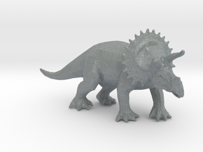 Triceratops in Polished Metallic Plastic