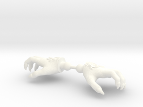 Monster Hands Furry in White Strong & Flexible Polished