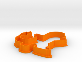Charmander Cookie Cutter in Orange Strong & Flexible Polished
