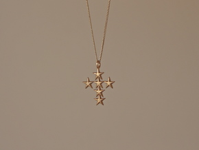StarCross Small Pendant in Raw Bronze