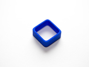Poly4 Ring, Size US5 in Blue Strong & Flexible Polished