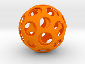 Double Dome in Orange Strong & Flexible Polished
