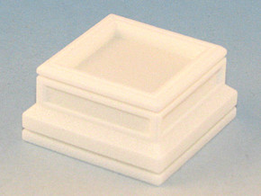 20mm Square Plinth in White Strong & Flexible