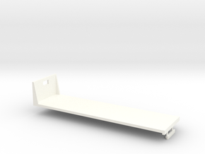1/64th S Scale 30 foot flatbed in White Strong & Flexible Polished